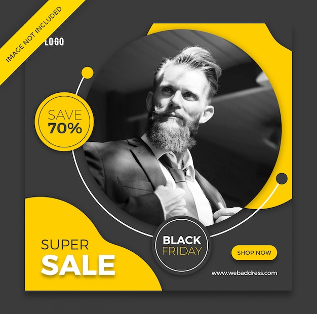 Black friday fashion banner template