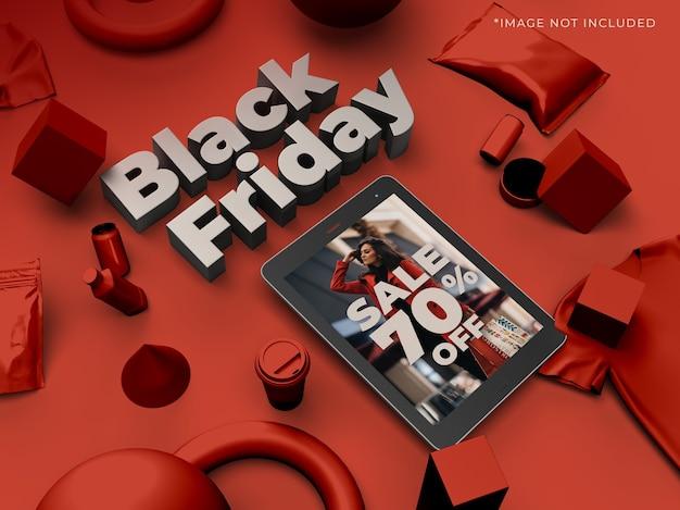 Black friday fashion sale 3d design mockup