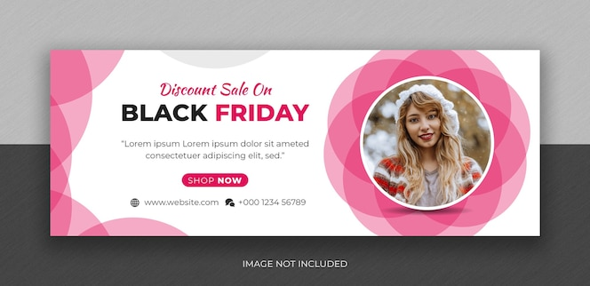 Black friday fashion sale social media facebook cover photo design template