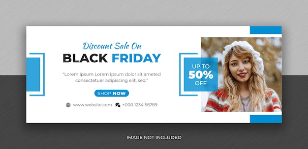 Black friday fashion sale social media facebook cover photo design template