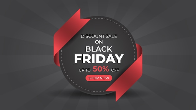 Black friday fashion sale web banner design template