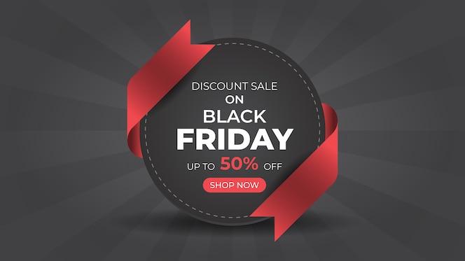 Modello di progettazione di banner web vendita di moda venerdì nero