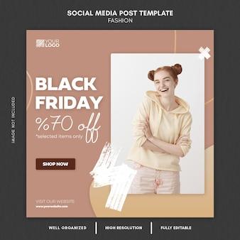 Black friday fashion social media post template