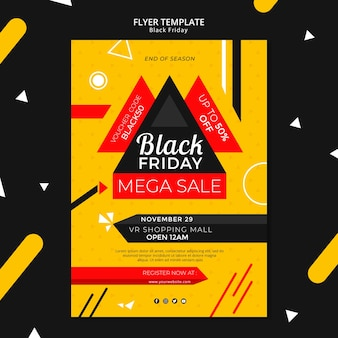 Black friday flyer template mock-up