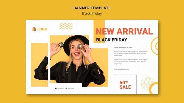 Black friday horizontal banner template
