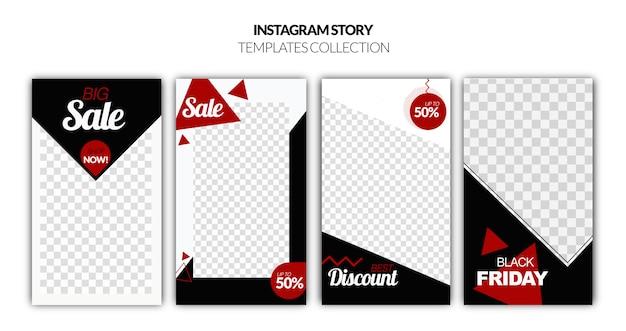 Modello di storie instagram venerdì nero