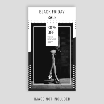 Black friday instagram story template design