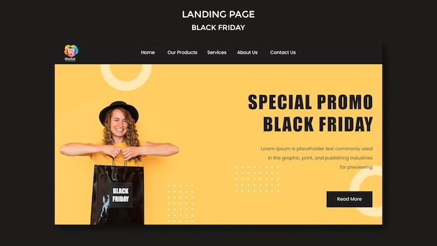 Black friday landing page template