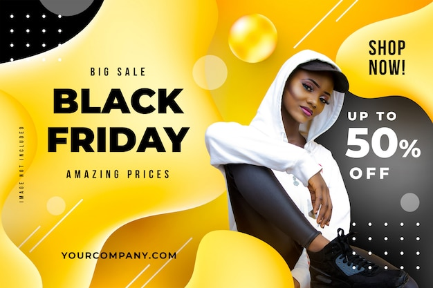 Black friday liquid banner template