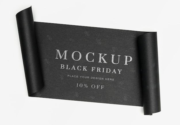 Black friday mock-up black banner