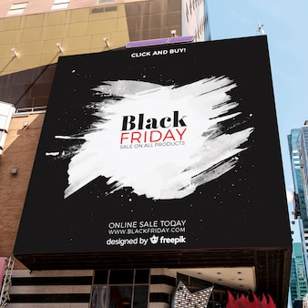Black friday mock-up outdoors