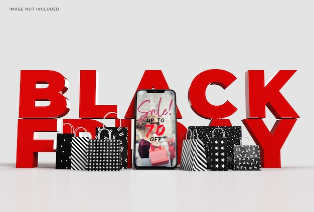 Black friday mockup business concept marketing