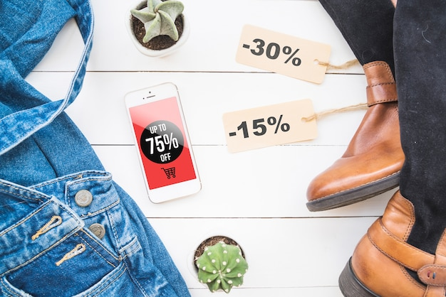 Black friday mockup with fashion concept