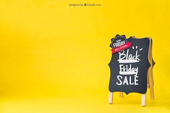Black friday mockup with space on left