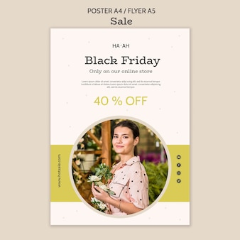 Black friday poster template