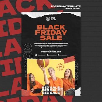 Modello di poster del venerdì nero