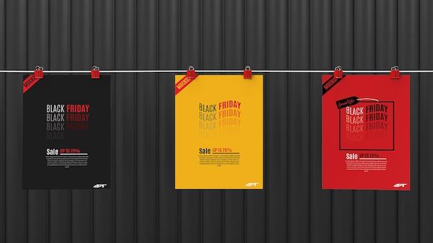 Black friday sale concept mockup