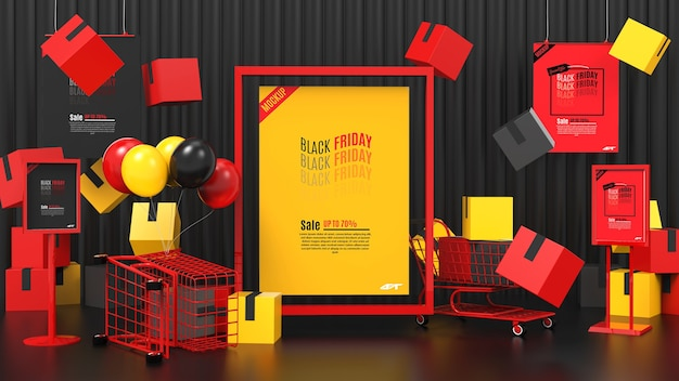 Black friday sale concept mockup