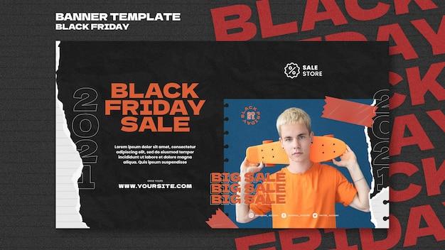Black friday sale horizontal banner