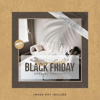 검은 금요일 판매 instagram 소셜 미디어 게시물 배너 템플릿