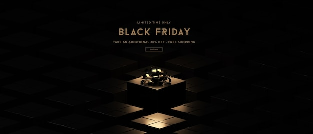 Black friday sale mockup in 3d rendering