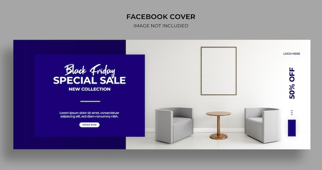 Черная пятница распродажа обложка в социальных сетях и шаблон веб-баннера