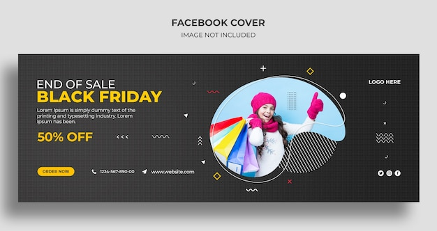 Black friday sale social media cover and web banner template