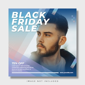 Black friday sale social media instagram post