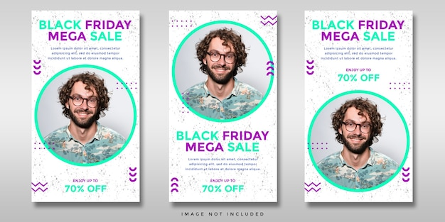 ブラックフライデーセールソーシャルメディアinstagramストーリーバナー