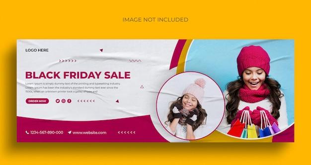 Черная пятница распродажа в социальных сетях пост в инстаграм веб-баннер или шаблон обложки в фейсбуке