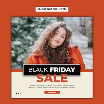 Black friday sale social media post template