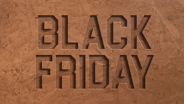 Black friday sale text effect design template