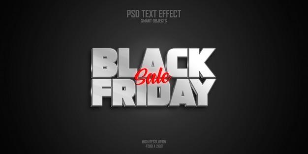 Черная пятница продажа текстовый эффект