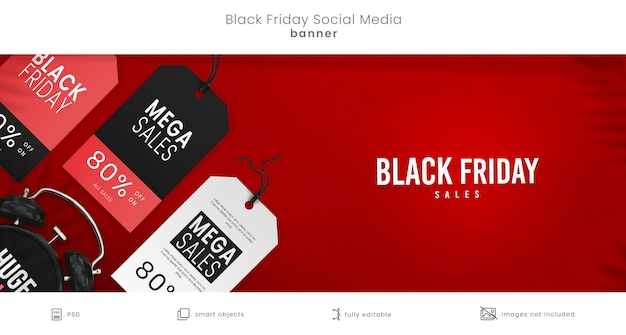 Black friday sales facebook banner for social media
