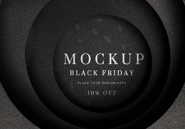 Mock-up di vendita del venerdì nero
