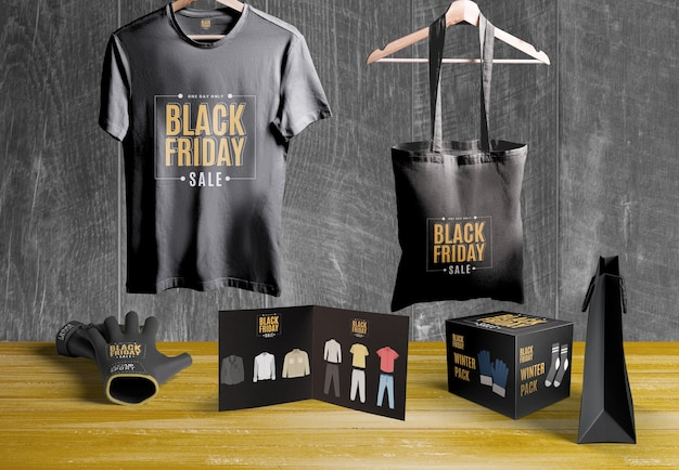 Black friday scene creator mock-up