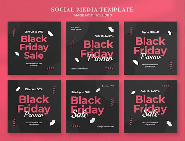 Black friday social media banner and instagram post template