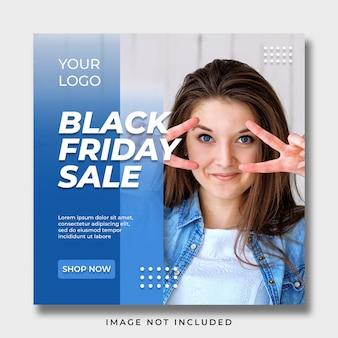 Black friday social media banner template