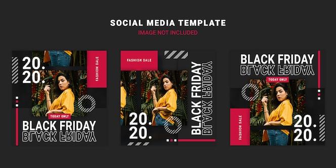 검은 금요일 소셜 미디어 게시물 템플릿