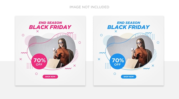 Black friday social media post template