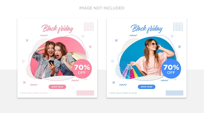 Black friday social media post template