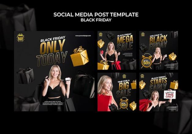 Black friday social media posts collection