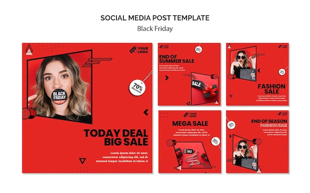 Black friday social media posts