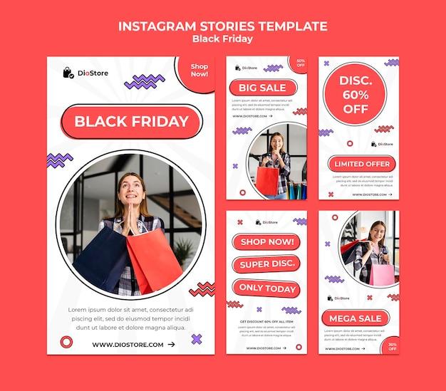 Black friday social media stories pack