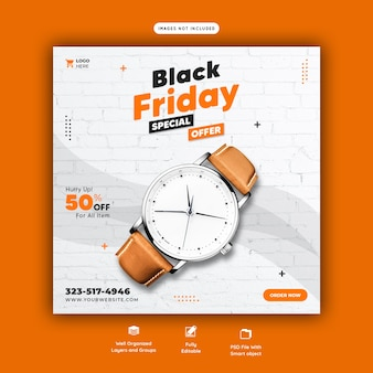 Black friday special offer social media banner template