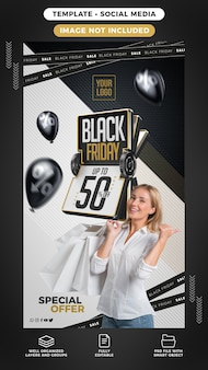 Black friday special offer stories banner template