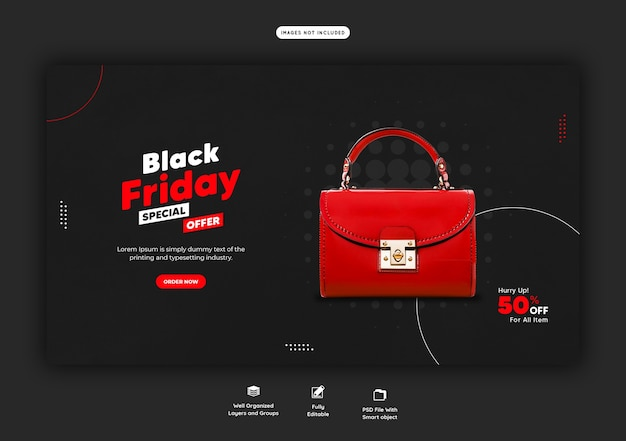 Black friday special offer web banner template