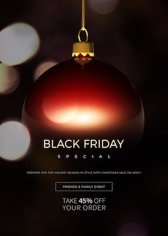 Black friday special sale banner or poster template