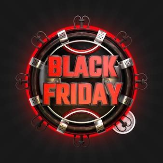 Banner quadrato venerdì nero con sfondo nero.