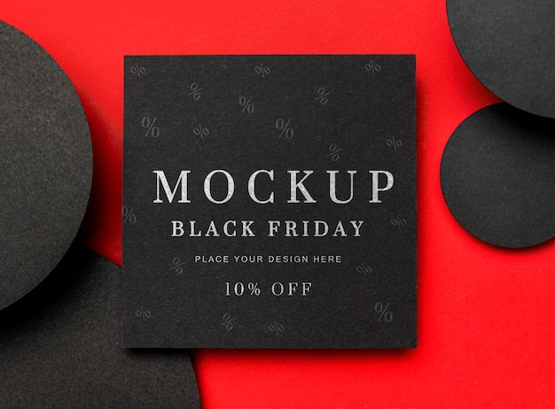 Black friday squared mock-up